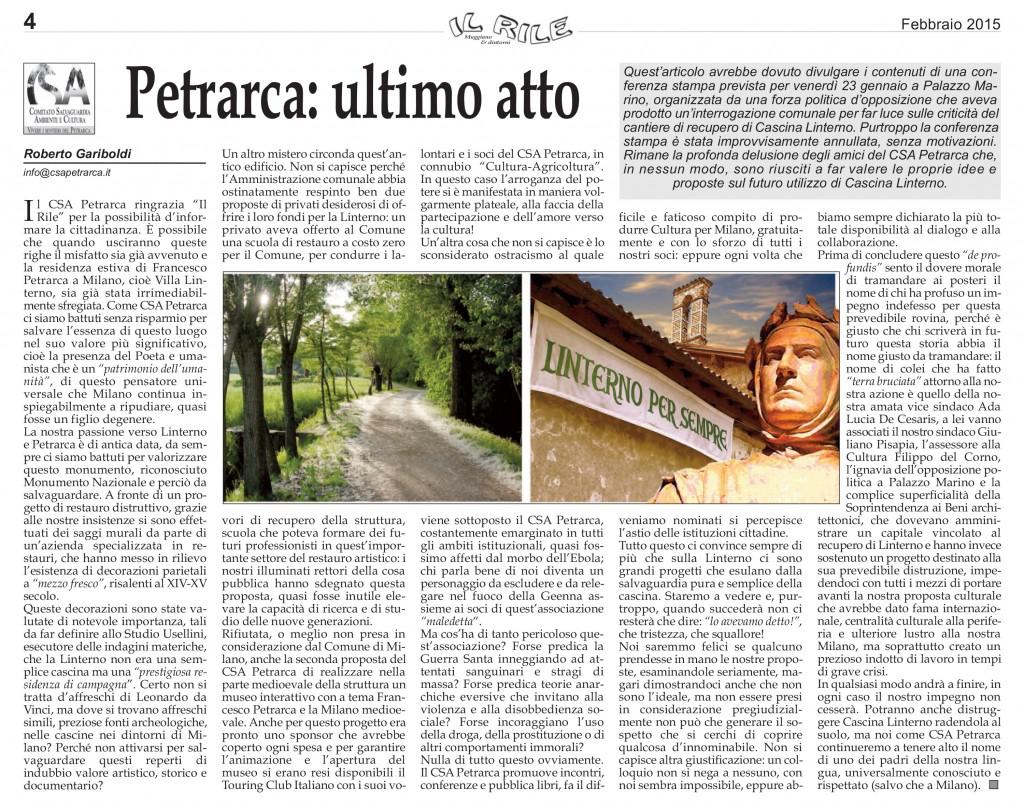 Petrarca_ultimo atto_Rile